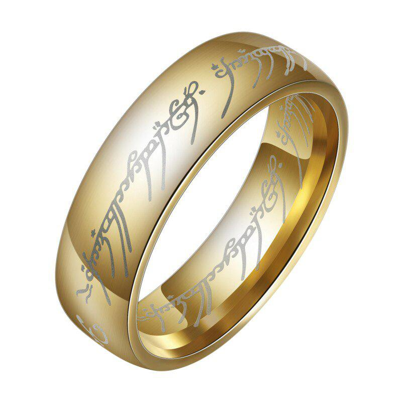 Latest Fashion The Lord of The Rings for Men 18K Gold Plating Stainless Steel Jewelry