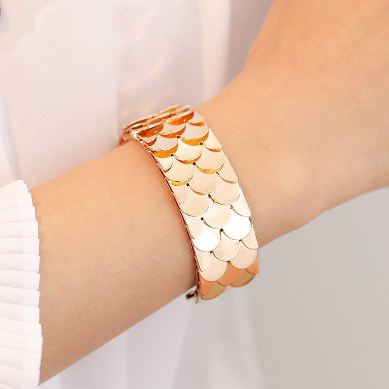 Shop Fashion Exaggerated Fish Scale Opening Bracelet