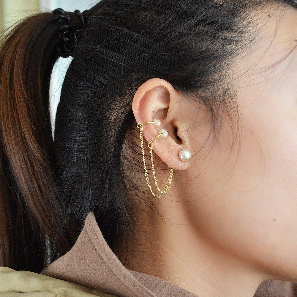 Long Chain Ear Cuff Earrings