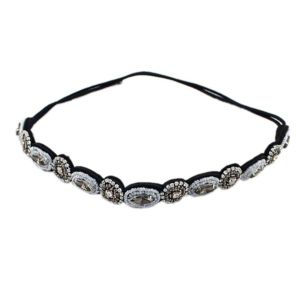 Outfits Flower Rhinestone Ribbon Hair Band For Women