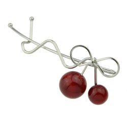 Bowknot Red Bead Cherry Hairpins Hairwear -