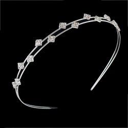 Silver Color With Rhinestone Headbands Hair Jewelry -