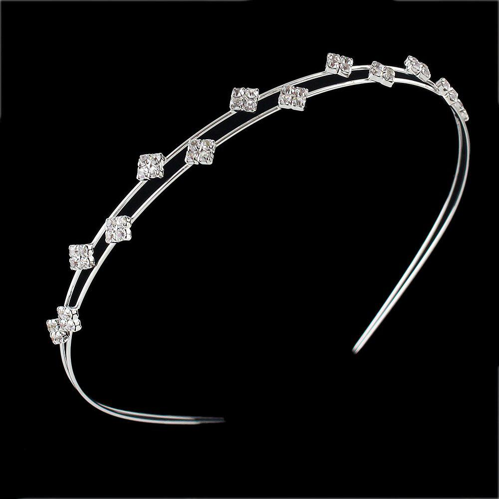 Shops Silver Color With Rhinestone Headbands Hair Jewelry