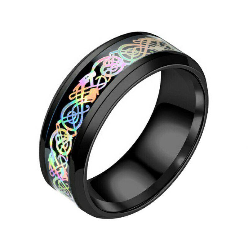 Hot Colorful Dragon Stainless Steel Ring Mens Jewelry Wedding Band for Lovers
