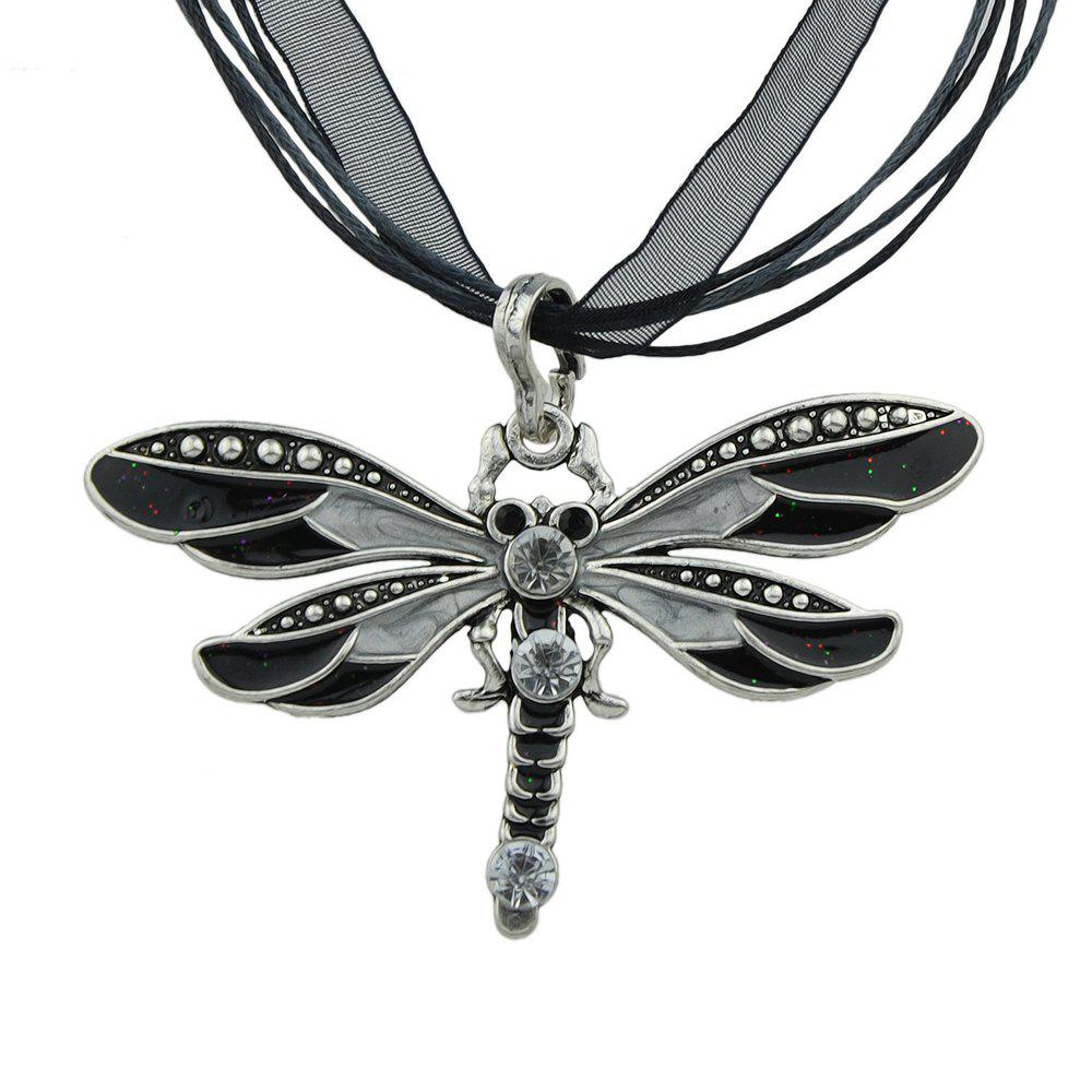 Cheap 5 Colors Dragonfly Pendant Necklace