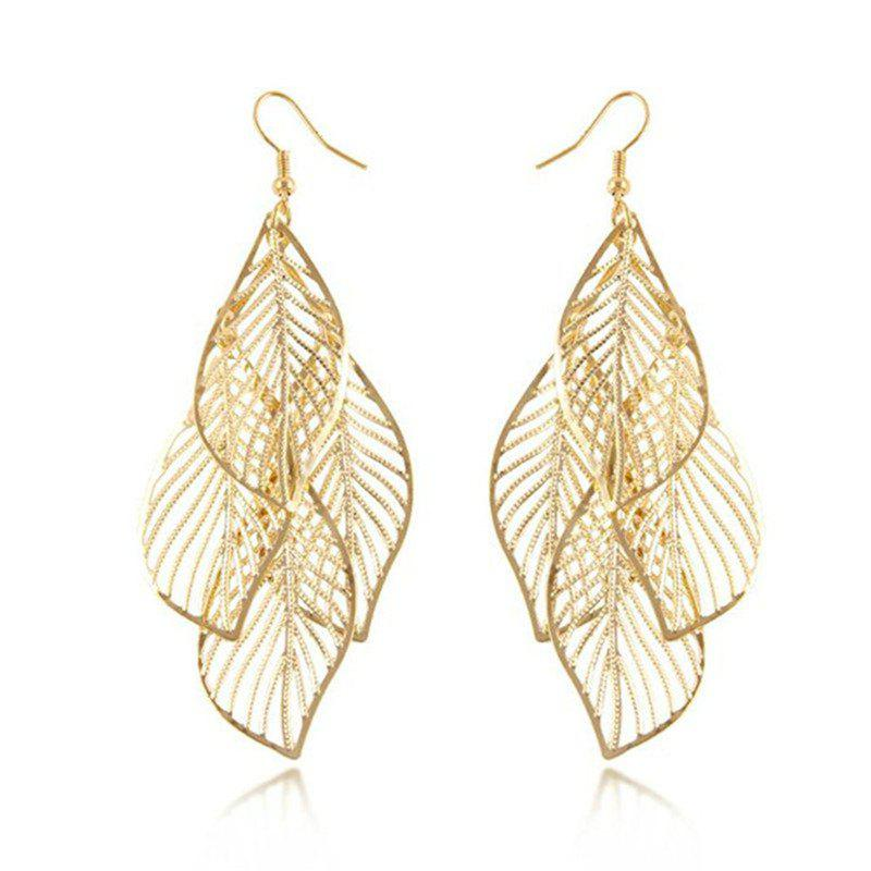 New Trendy Lady Baitao Hollowed Out Leaves  Saussurea Eardrops