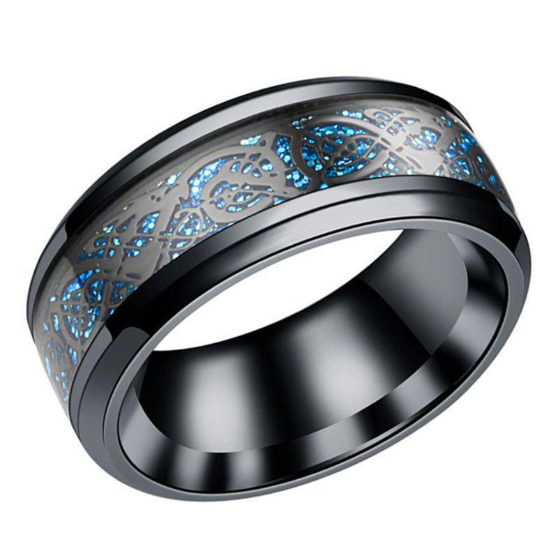 Fashion Carbon Ring Men'S Ring Stainless Steel Domineering Ring