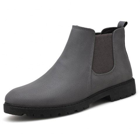 Men Chelsea Boots Fashion Men'S Ankle Boots Slip Ons Motorcycle Boots