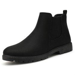 Men Chelsea Boots Fashion Men'S Ankle Boots Slip Ons Motorcycle Boots -