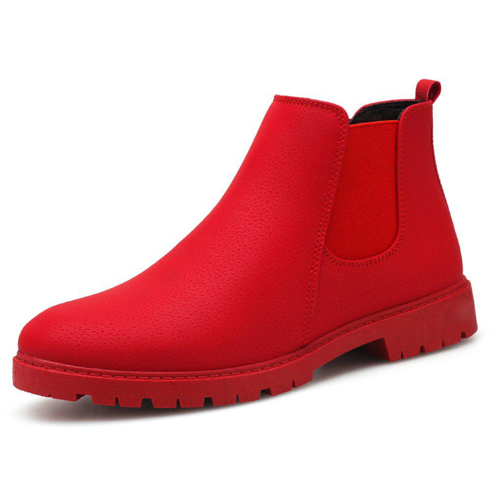 New Men Chelsea Boots Fashion Men'S Ankle Boots Slip Ons Motorcycle Boots