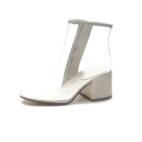 Coarse and Comfortable Crystal Girl Boots
