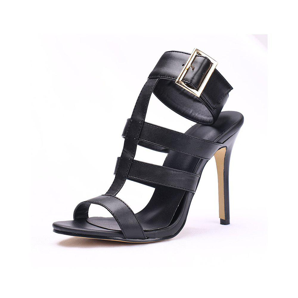 2ee376e03e63 Summer High-Heeled Set of One-Piece Open-Toe Stiletto Fashion Ladies  Sandals - Eu 40
