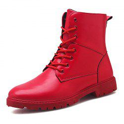 Men Fashion Lace Up Casual Shoes Man Ankle Boots -