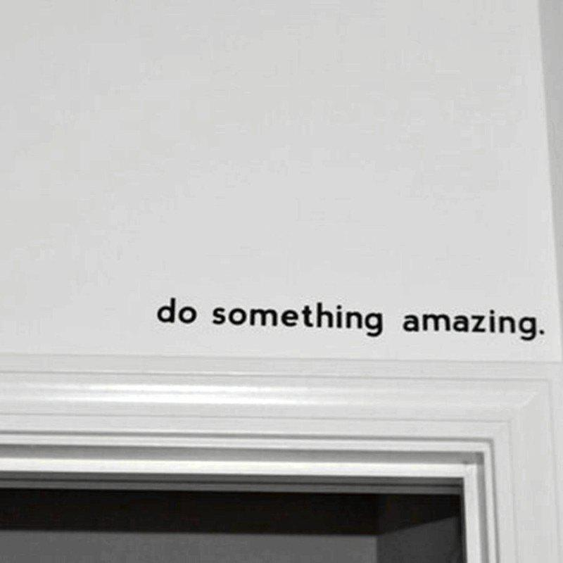 Outfit Inspirational Quote Decal Do Something Amazing Over The Door Vinyl Wall Decal