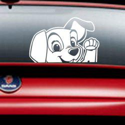 Cartoon Animals Cute Dog Car Sticker Dog Say Hello Decal DIY Kids Nursery Room -
