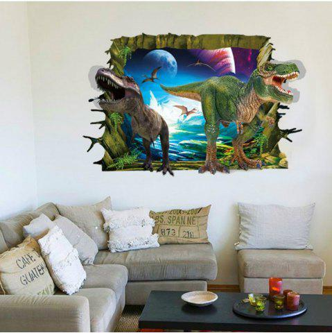 3D Two Dinosaurs Wall Stickers for Kids Animals Birds Pvc Decals Home  Decoration 5b02e56baf