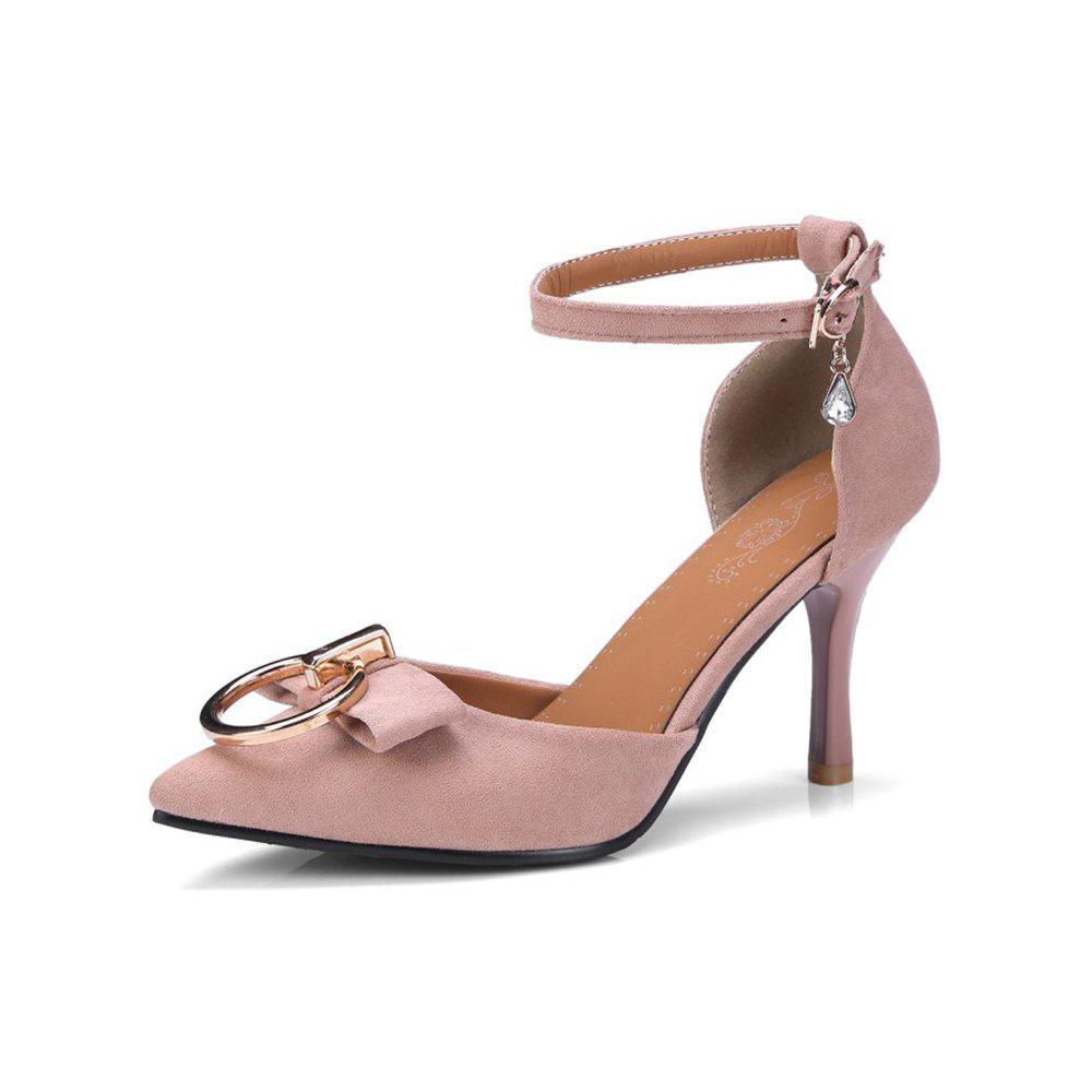 Outfit Spring and Summer Pointed Buckle with Stiletto Metal High Heel Sandals