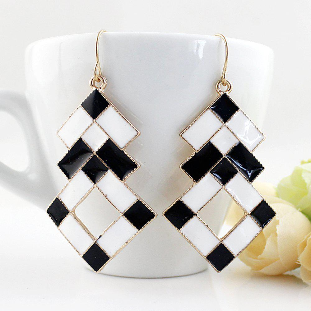 Fancy Fashionable Black And White Oil Earrings