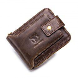 Men Genuine Leather Wallet Male Coin Purse Pocket Zipper Money Clip Card Holder -