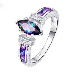 Stylish and Beautiful Colorful Oval Zircon Ring -
