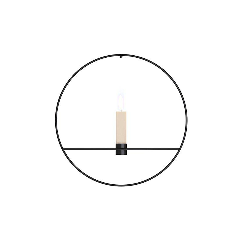 Sale Nordic Style 3D Geometric Candlestick Wall Candle Holder Metal Home Ornaments