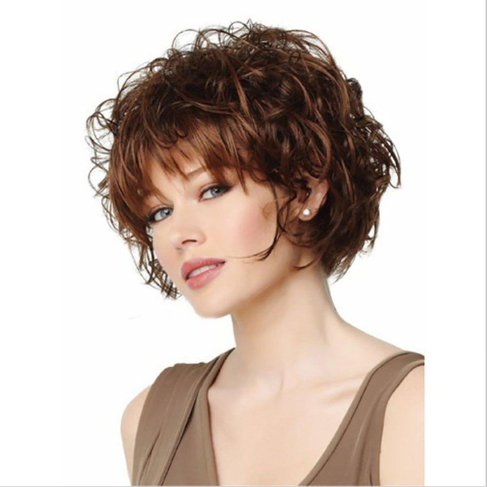 Shop Fashion Rose Net Short Curly Wig with Bang