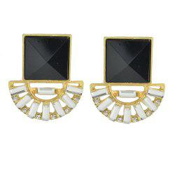 Fashionable Small Black Diamond Earrings With Gemstone Earrings -
