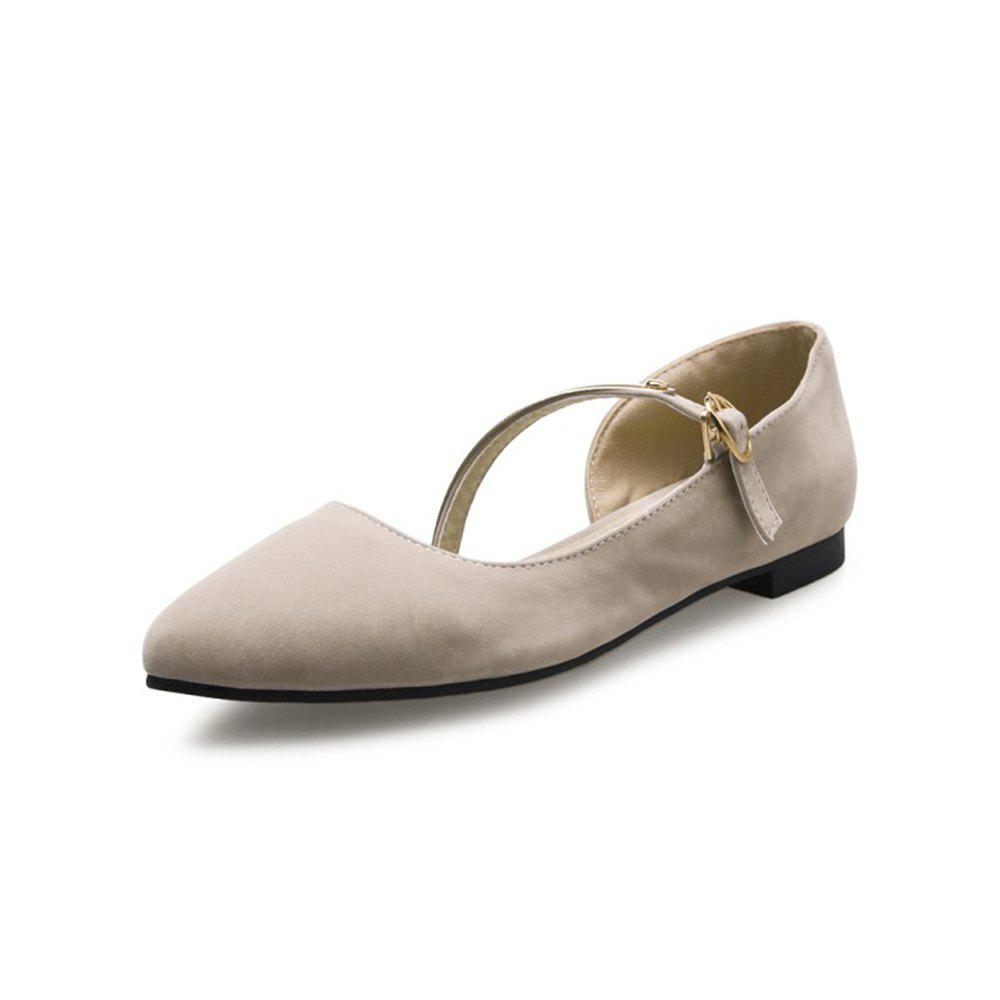 Fancy Spring and Summer Pointed Buckle with Flat Flat Shoes