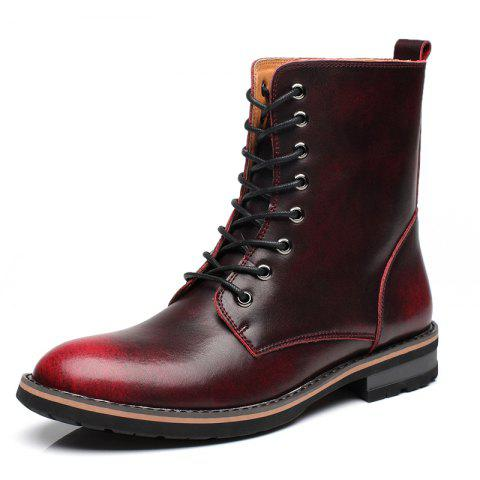 Men Vintage Punk Genuine Leather Shoes Men Ankle Fashion Boots
