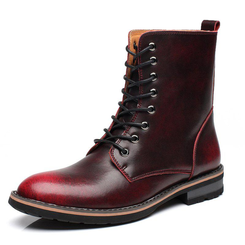 Outfit Men Vintage Punk Genuine Leather Shoes Men Ankle Fashion Boots