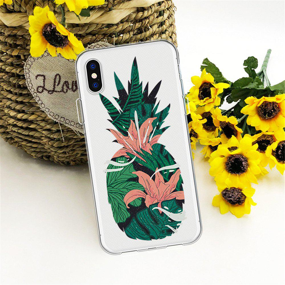 Outfit Flexible Pineapple Thickened TPU Wear Proof Soft Protective case for iPhone X