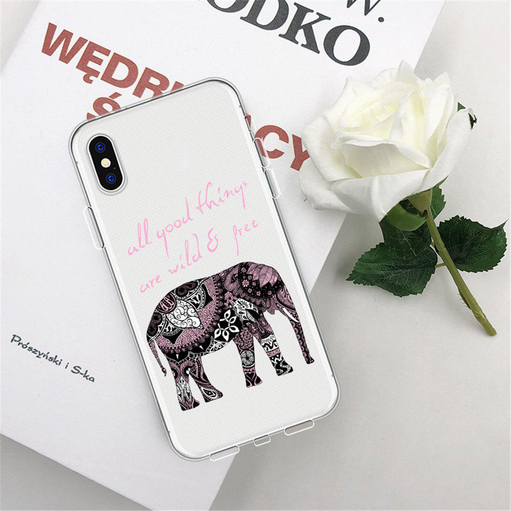 Online Patterned Elephant TPU Wear Proof Soft Protective Case for iPhone XS