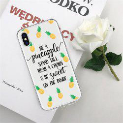 Text Pineapple TPU Wear Proof Soft Protective Case for iPhone XS MAX -