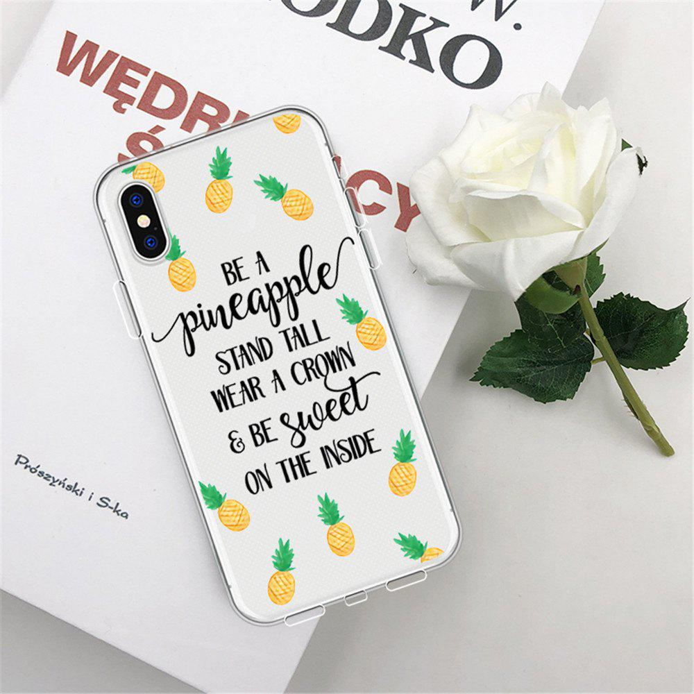 Discount Text Pineapple TPU Wear Proof Soft Protective Case for iPhone XS MAX