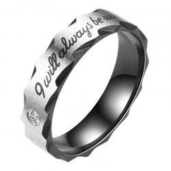 Men'S Women'S CZ Stainless Steel Love I Will Always Be with You Rings -