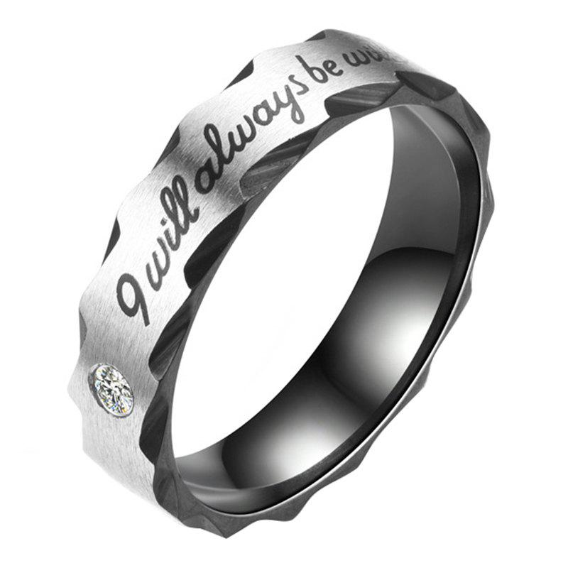Shop Men'S Women'S CZ Stainless Steel Love I Will Always Be with You Rings