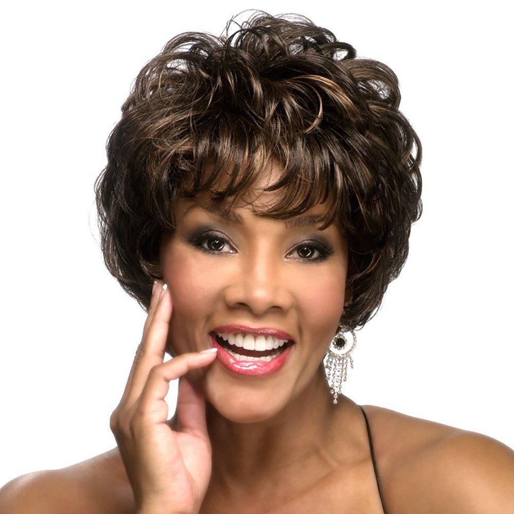 Store Fashionable New Chemical Fiber Bouffant Short Curly Wig
