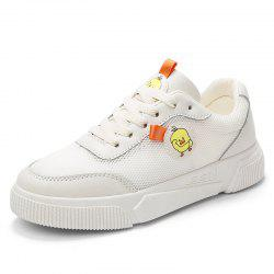 Women'S Sneakers Breathable Flat Bottom with Small White Shoes -