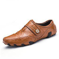 Men'S Casual Shoes British Style Moccasins Genuine Leather Flats Hombre -