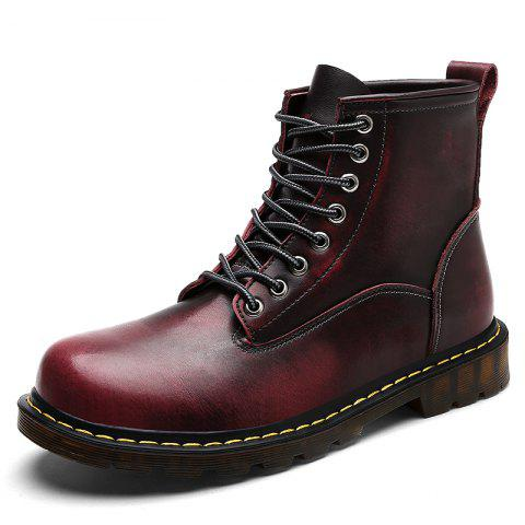 Men 2019 Boots British Martins Punk Genuine Winter Warm Shoes