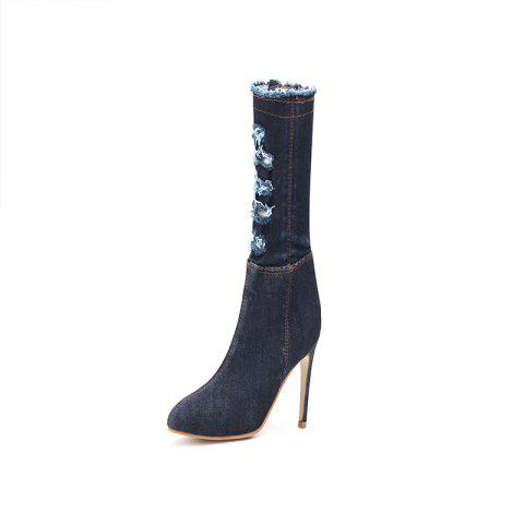 Fashion Shoes with HighHeel SlimHeel TipInTheMiddle Barrel
