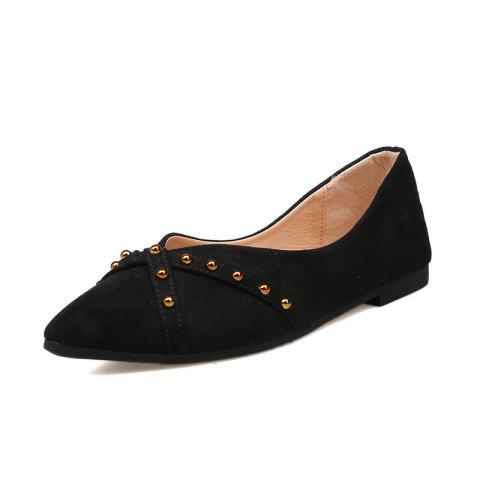 Pointed Flatbottomed Shallowmouthed Single Shoe