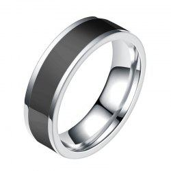 Fashion Jewelry Black Titanium Band Stainless Steel Ring -