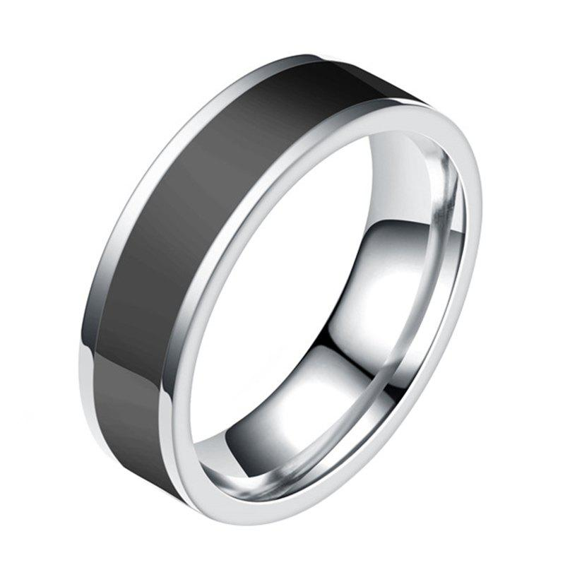 Fashion Fashion Jewelry Black Titanium Band Stainless Steel Ring