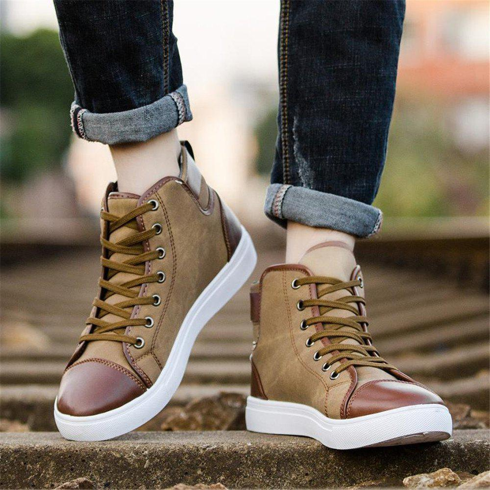 New 2019 Men Shoes Fashion Leather Footwear For Man New High Casual Shoes