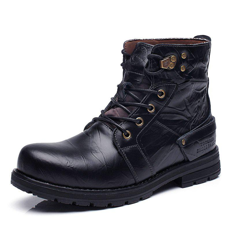 Outfit Men Genuine Leather Boots Men Old Fashion Ankle Boots