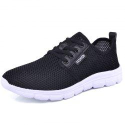 Women'S Breathable Sneakers Mesh Lace-Up Flats -