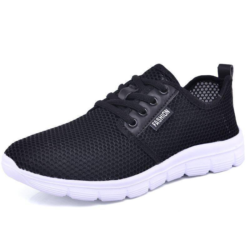 Fashion Women'S Breathable Sneakers Mesh Lace-Up Flats