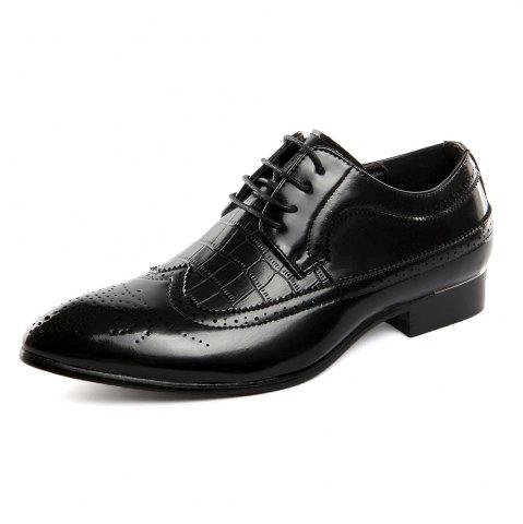 New Men'S Pointed Toe Leather Lining Dress Shoes Lace Up