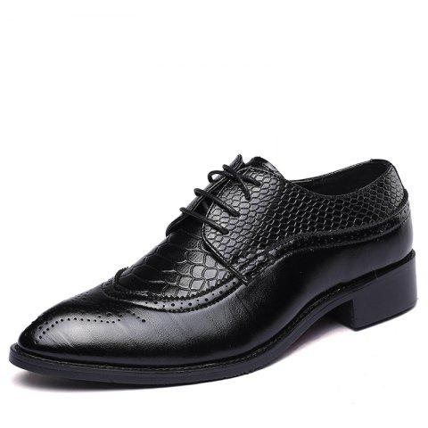 Leather Shoes Dress Men Lace Up Dress Formal Shoes